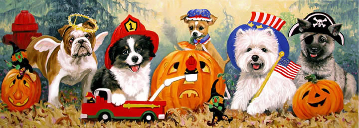 Linda Picken Art Studio Halloween Puppiesjpg